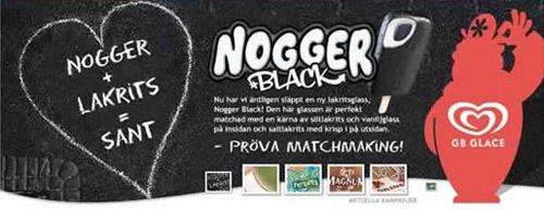 Swedish Ad for Nogger Black