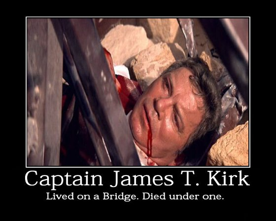 Star Trek Motivational Poster - Kirk Dies