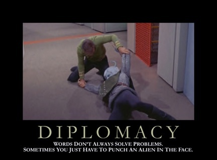 Star Trek Motivational Poster - Diplomacy
