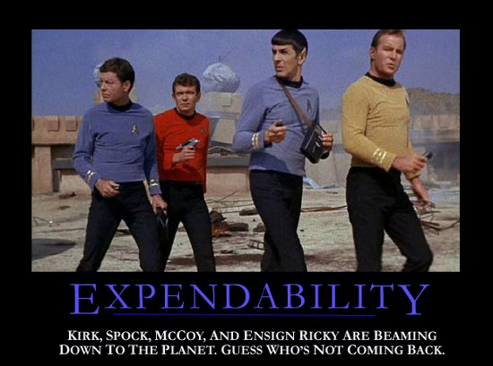 Star Trek Motivational Poster - Expendability
