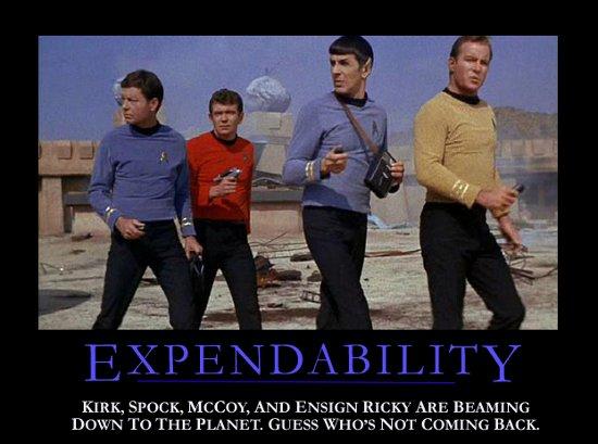 Star Trek Motivational Poster - Expendability