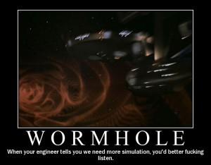 Star Trek Motivational Posters - Wormhole
