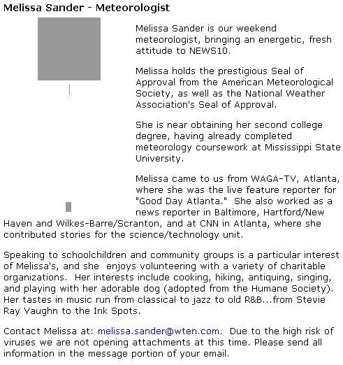 Melissa Sander Albany Profile