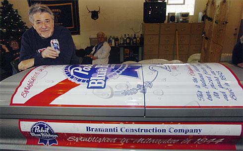 pabst blue ribbon coffin for bill bramanti