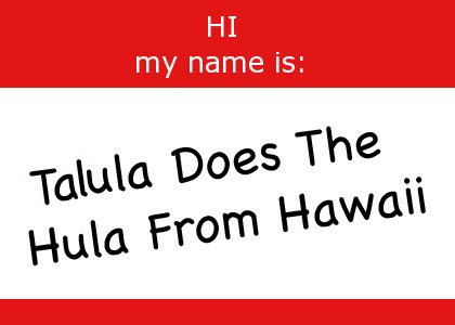 Talula Does The Hula