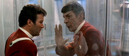<em>I'm dying here... can you at least get the Vulcan greeting right this time?</em>