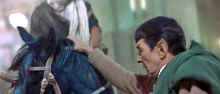 Spock nerve-pinches a horse