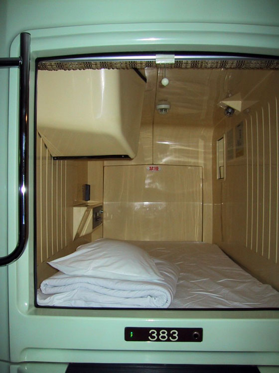 Capsule Hotel with TV