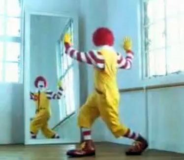 Ronald McDonald Mirror