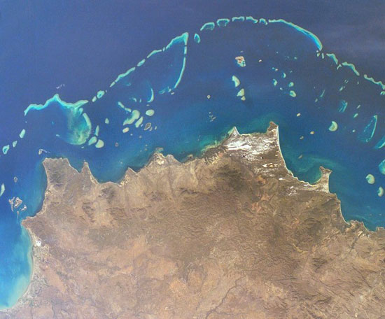 Barrier Reef From Space
