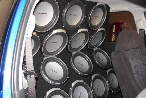 Wall of Subwoofers