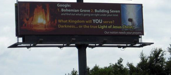 Bohemian Grove Billboard