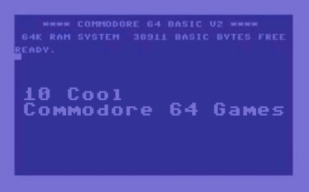 10 Cool Commodore 64 Games