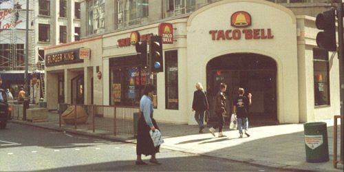 Taco Bell, London, 1989