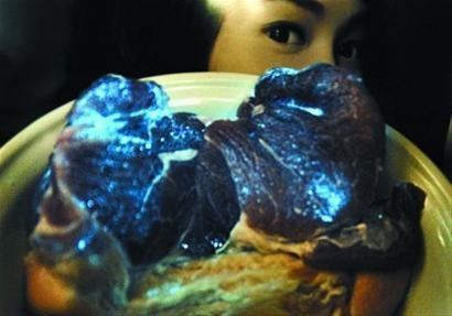 Glowing Meat in China