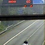 Extreme Ironing on M1 Motorway