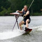 Extreme Ironing on Skiis