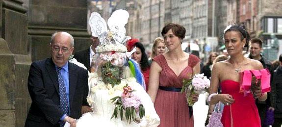 Pierced Woman Gets Married