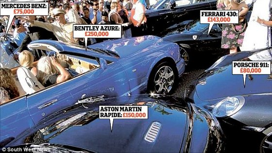 Blonde Crashes Expensive Luxury Cars