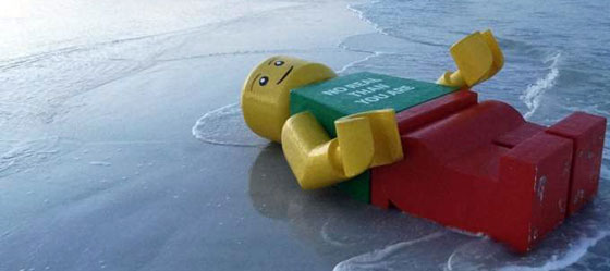 Giant Lego Man At Siesta Key Beach