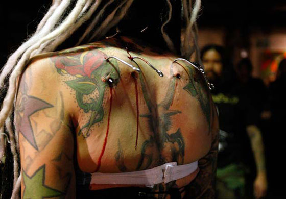 Maria Cristerna - Back Tattoo