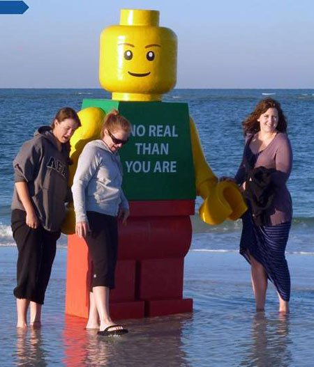 Lego Man and Friends - No Real Than You Are