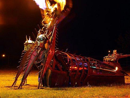 Flaming Robot