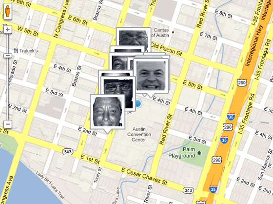 Map for Homeless Hotspots