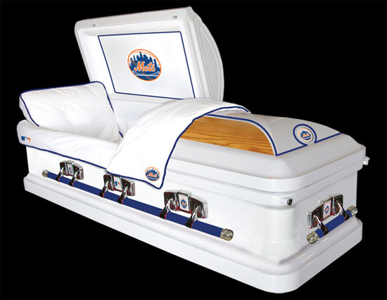 Coffin - Mets - Baseball Theme