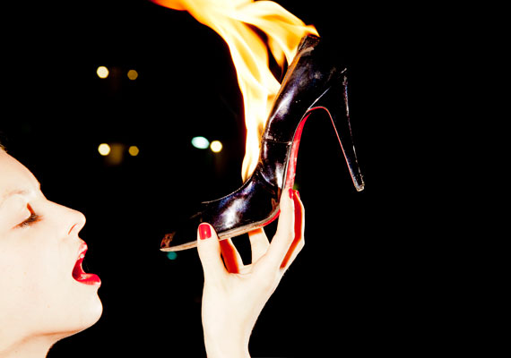 Christian Louboutin Shoes on  Fire