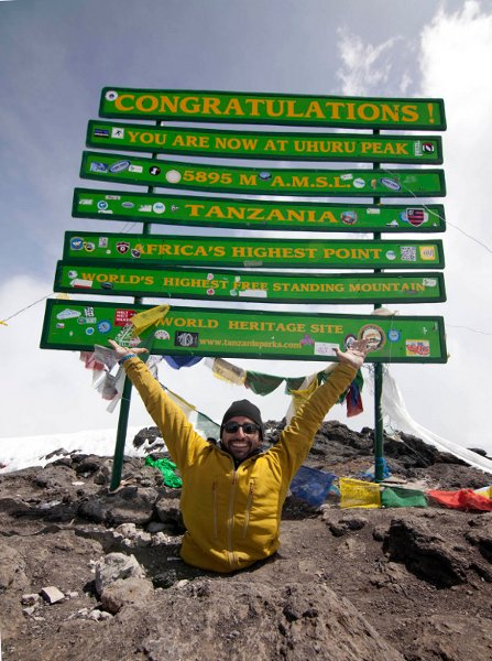 Spencer West Climbs Mount Kilimanjaro