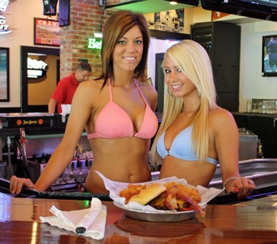 Bikinis Girls at Bar