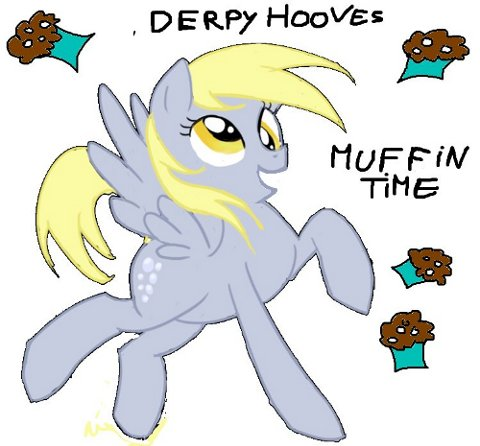 Derpy Hooves Likes Muffins