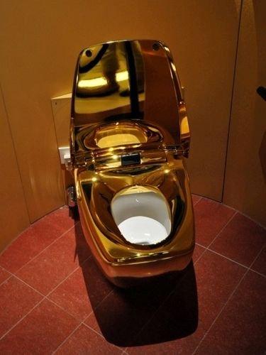 24K Gold Toilet