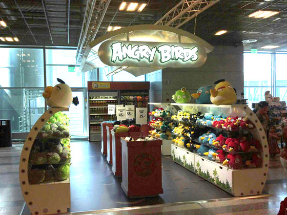 Angry birds store at Helsinki airport