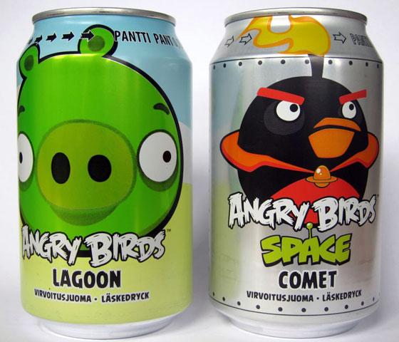 Angry Birds Soda - Flavors: Lagoon, Comet
