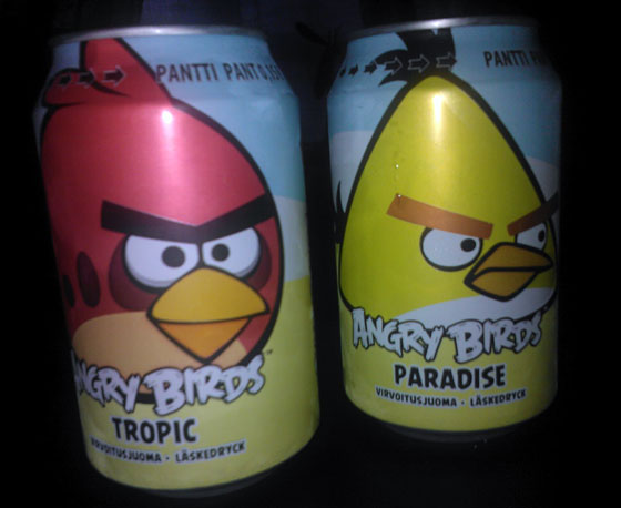 Angry Birds Soda - Flavors: Tropic, Paradise