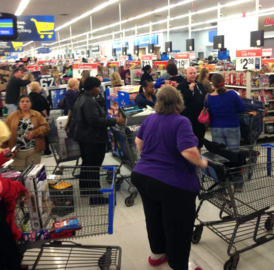 Orlando WalMart - Black Friday 2012