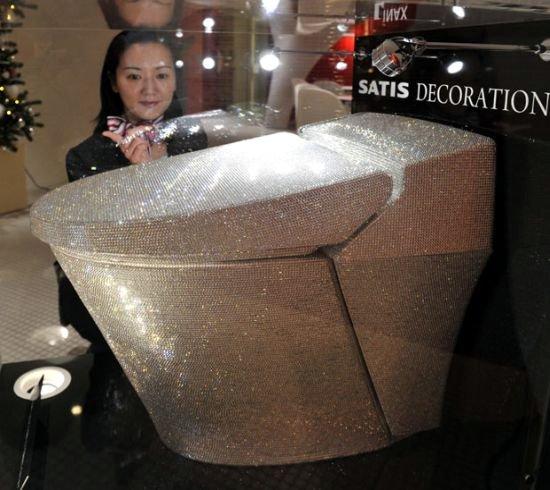 Swarovski Crystal Toilet
