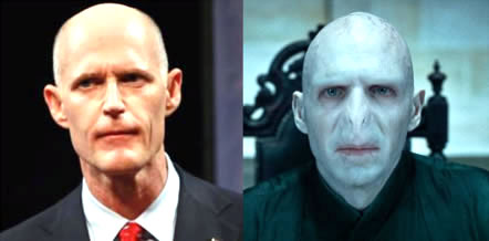 Rick Scott looks like Lord Voldemort