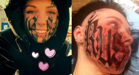 Lesya Toumaniantz Face Tattoo
