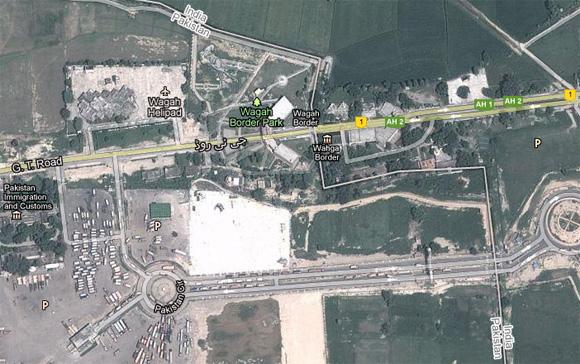 Wagah Border Map (Google Maps)