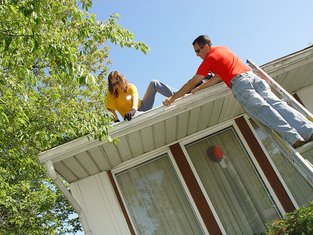By going over an annual home maintenance checklist, keeping up your home can be easier ... photo by CC user United States Navy on wikimedia commons (public domain)