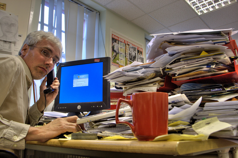 Have a job like this guy? It might be time to change your work life ... photo by CC user alancleaver on Flickr