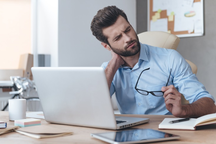 Computer work can be a leading cause of a persistent Pain in the Neck