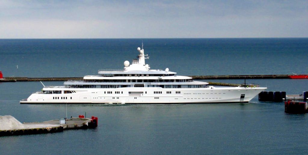 Superyachts are just some of the boy toys of the rich and famous