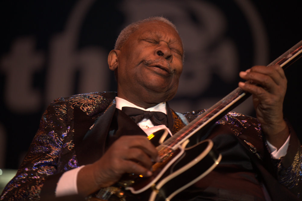 Through the music of musicians like B.B. King, Blues became known as the Grandfather of American Music